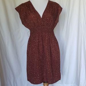 Guess V Neck Polka Dot Dress Size Medium